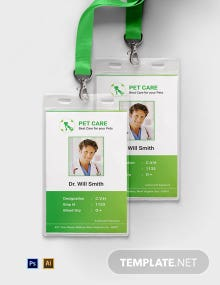 Free Pet Care ID Card Template