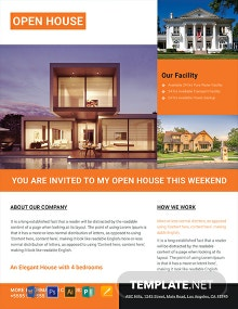 Free Luxurious House Real Estate Flyer Template
