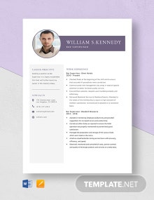 Bar Supervisor Resume Template