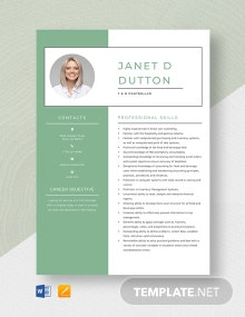 F&B Controller Resume Template