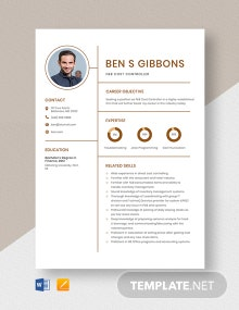 F&B Cost Controller Resume Template