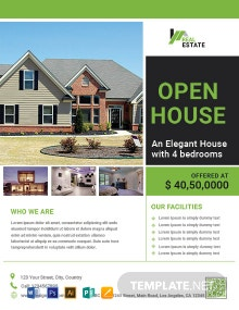 Free Open House Promotion Flyer Template