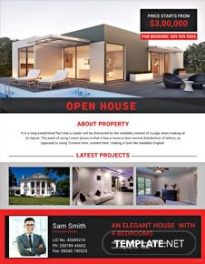Elegant Open House Flyer Template