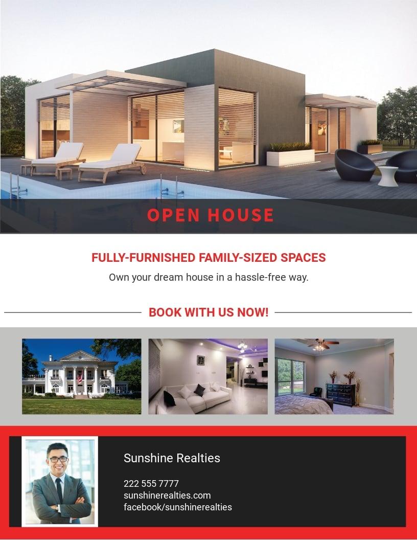 Free Elegant Open House Flyer Template.jpe