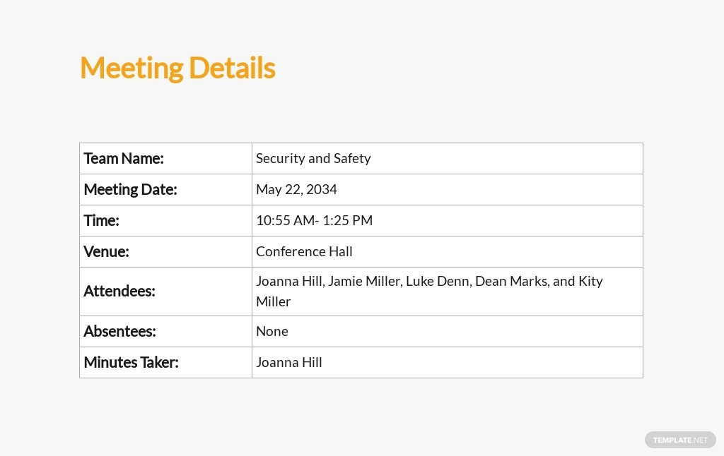 Free Workplace Safety Meeting Minutes Template 1.jpe