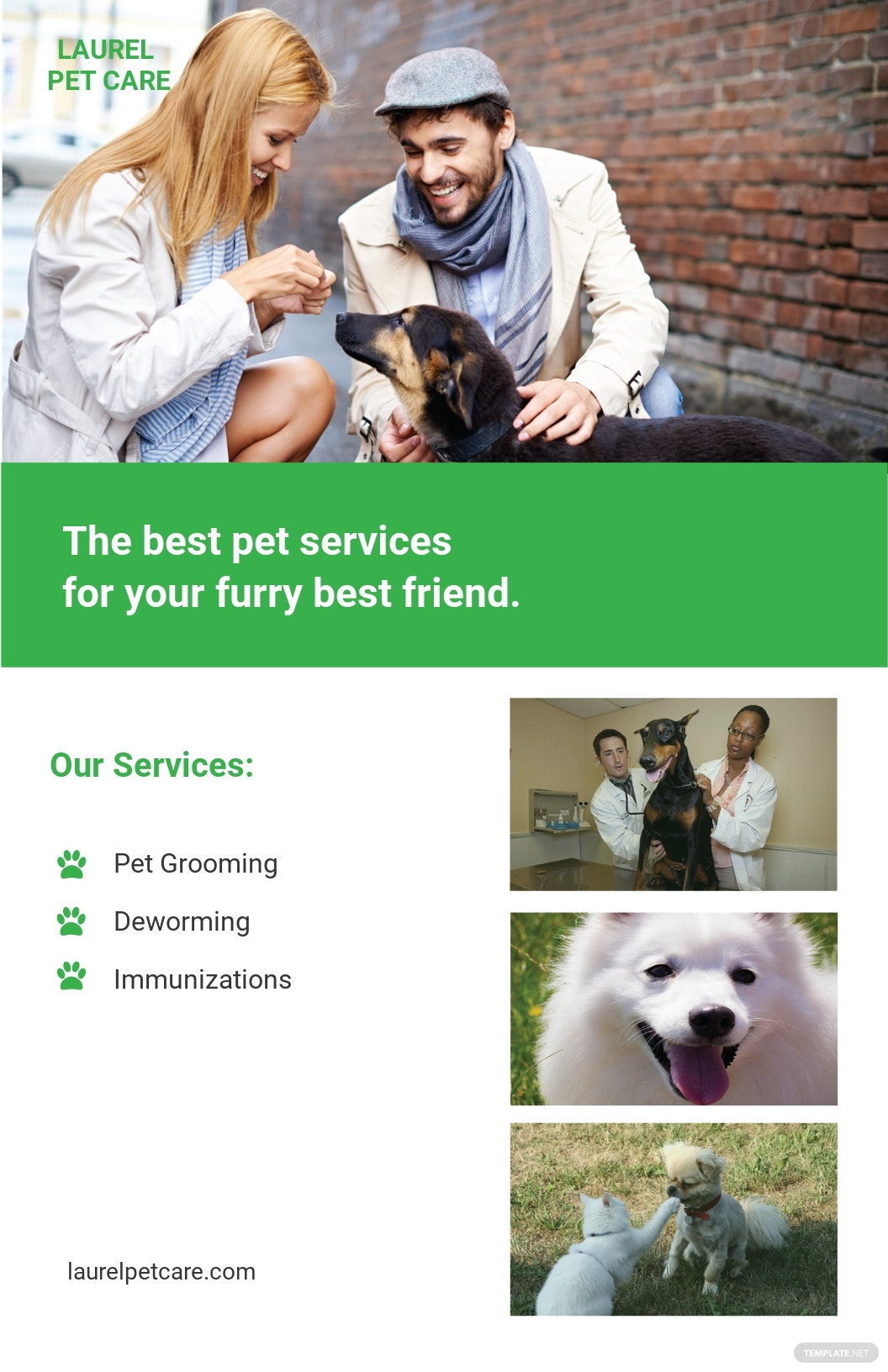 Pet Care Poster Template
