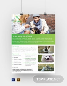 Free Pet Care Poster Template