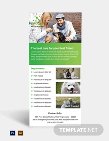 Free Pet Care Rack Card Template