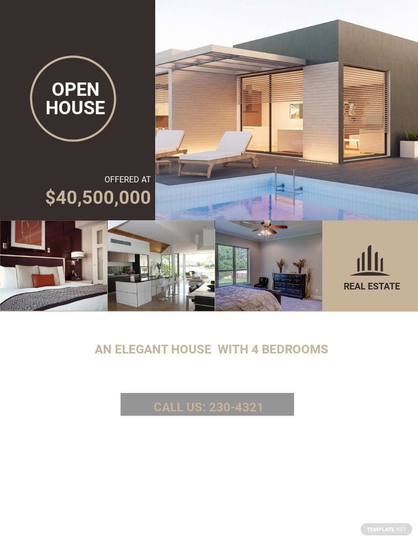 Luxury Home Real Estate Flyer Template