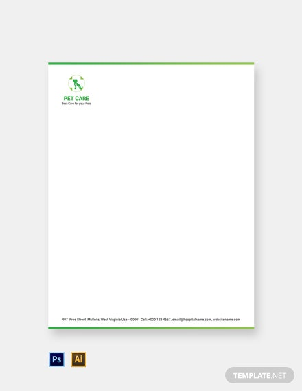 Free Pet Care Letterhead Template