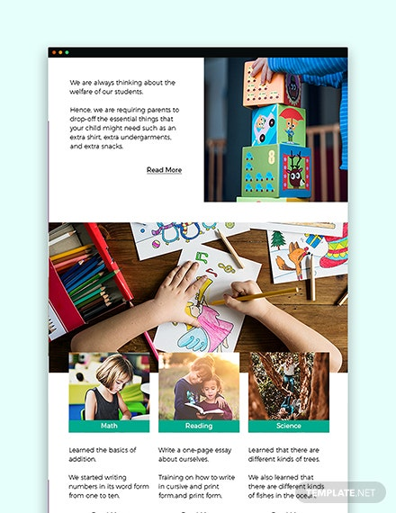 Sample Daycare Newsletter Template