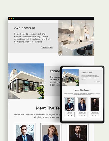 Sample Real Estate Agency Newsletter
