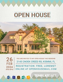 Free Cottage House Real Estate Flyer Template