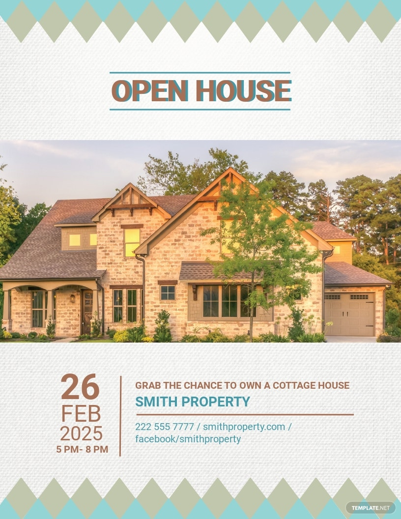 Cottage House Real Estate Flyer Template