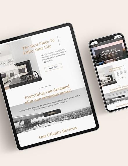 Real Estate Home for Sale Newsletter Download