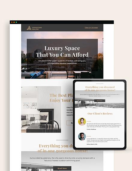 Sample Real Estate Home for Sale Newsletter