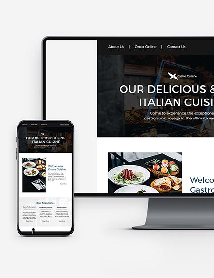 Restaurant Fast Food Newsletter Download