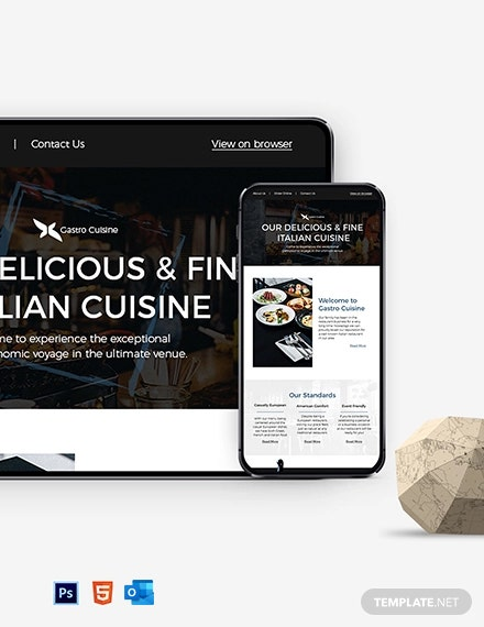 Restaurant Fast Food Newsletter Template