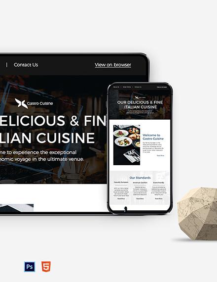 Restaurant Fast Food Newsletter Template