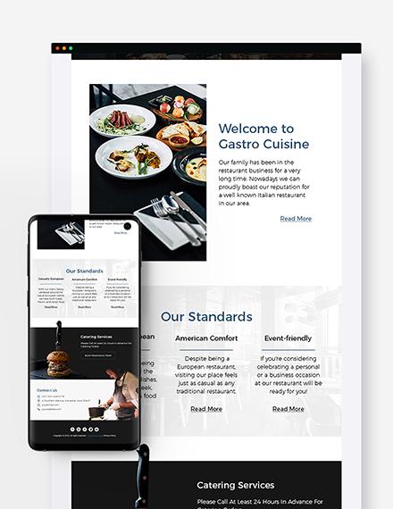 Sample Restaurant Fast Food Newsletter
