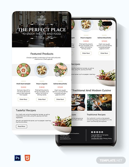 Restaurant Food Email Newsletter Template