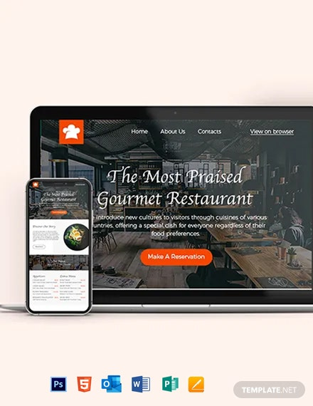 Restaurant Newsletter Template