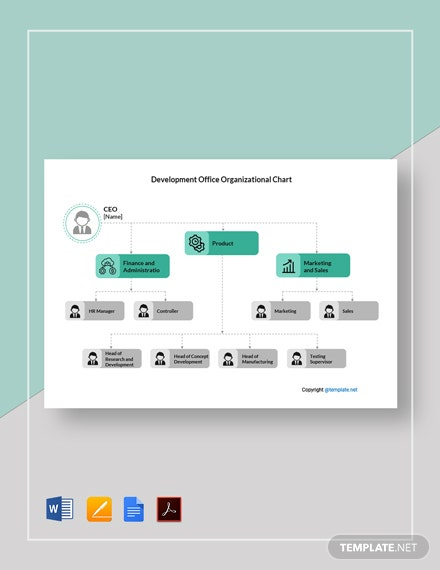 Free Development Office Organizational Chart Template