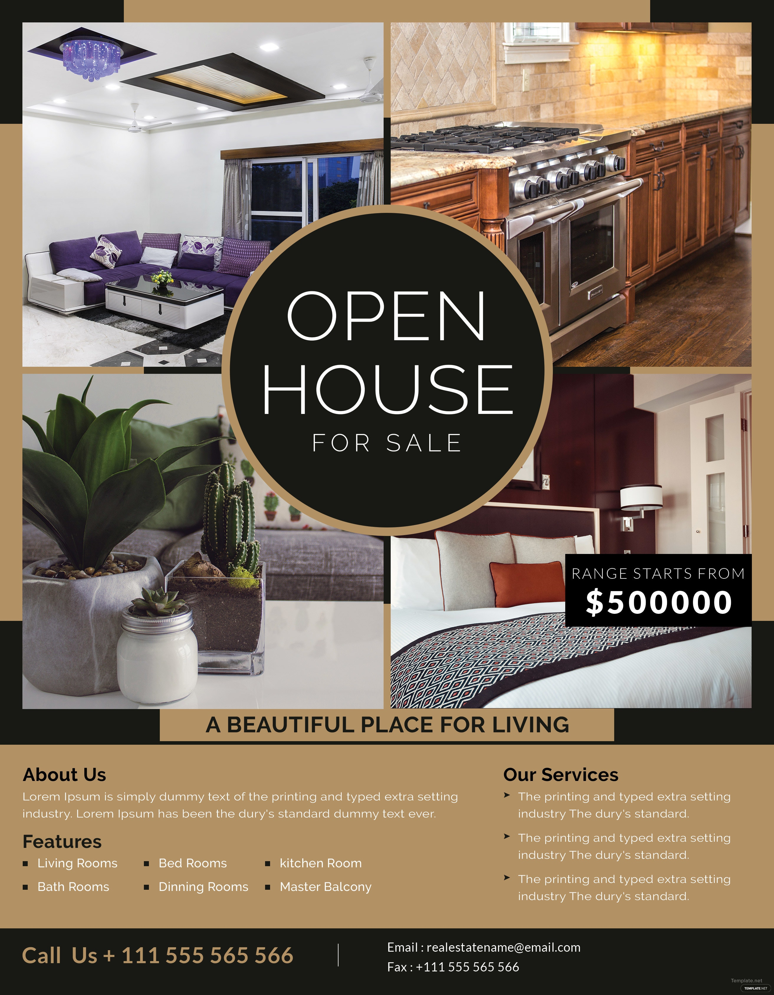 Open House Sale Flyer Template in Adobe Photoshop, Illustrator ...