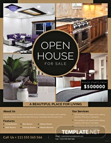 Open House Sale Flyer Template