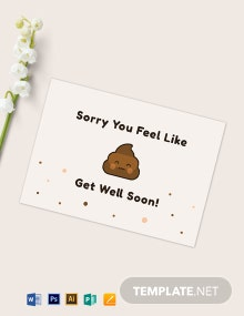 Funny Get Well Soon Card Template
