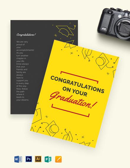 Graduation Card Template