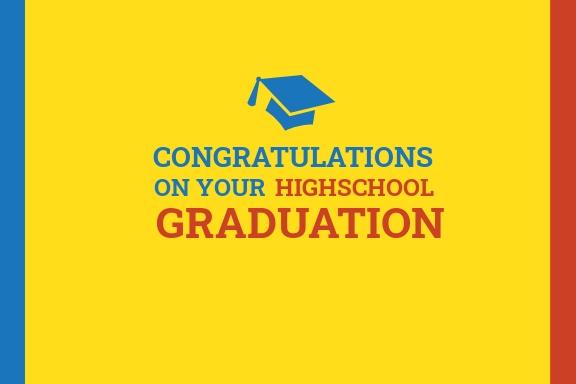 High School Graduation Card Template
