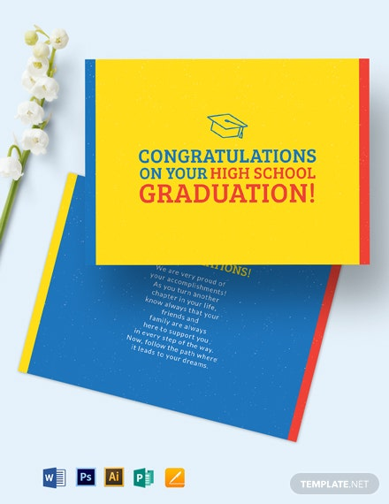 High School Graduation Card Template
