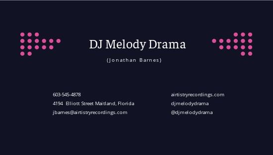 Elegant DJ Business Card Template 1.jpe