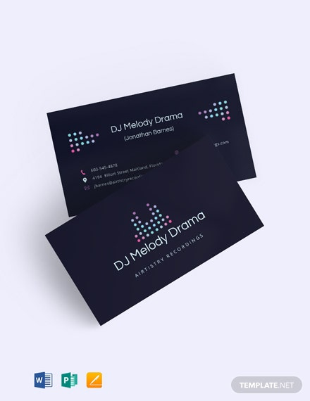 Elegant DJ Business Card Template