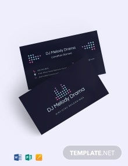 Elegant DJ Business Card Template