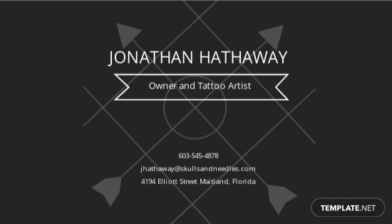 Chalkboard Tattoo Artist Business Card Template 1.jpe