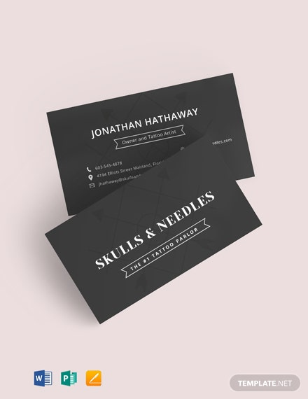 Chalkboard Tattoo Artist Business Card Template