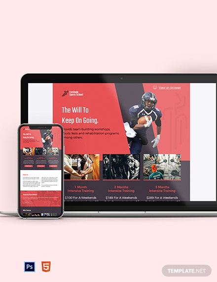 sports newsletter template