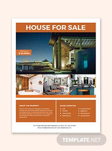 House Real Estate Flyer Template