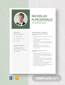 Office Operations Manager Resume Template