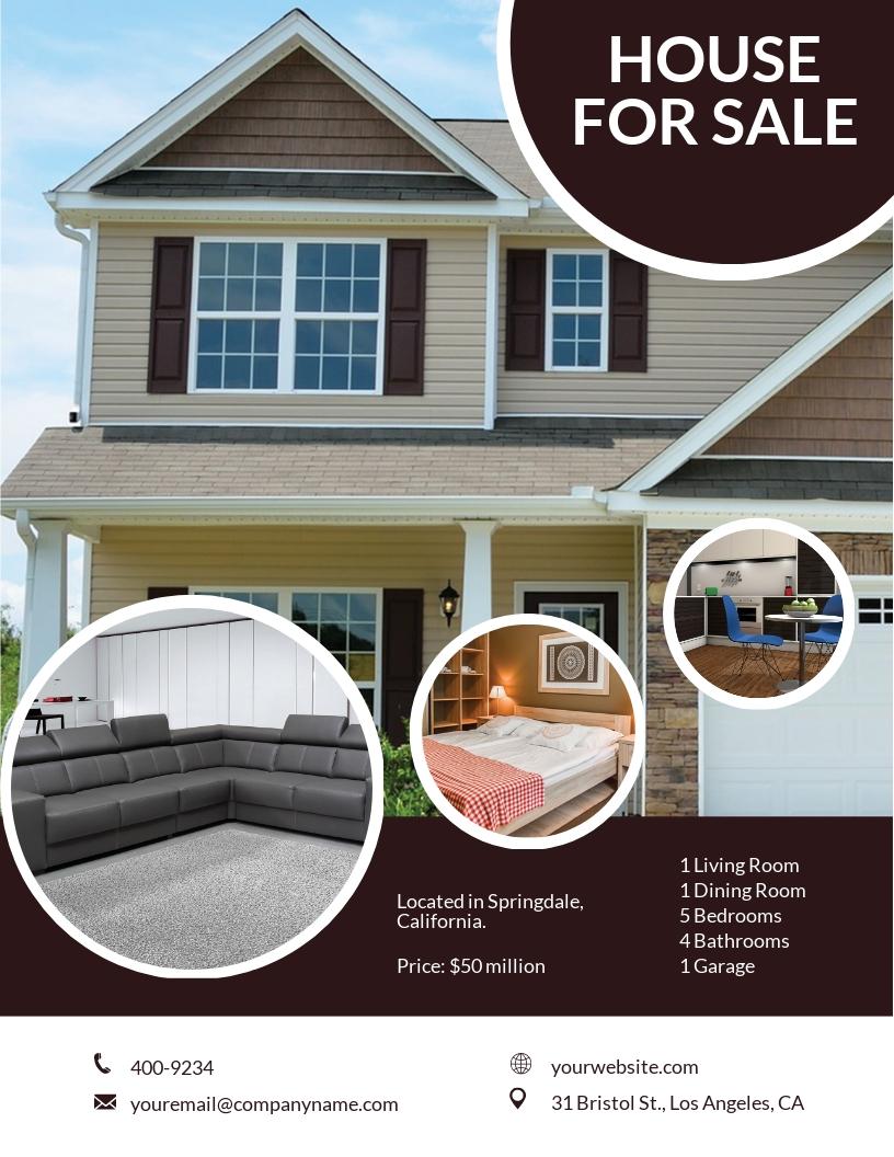 Free Modern Open House Flyer Template