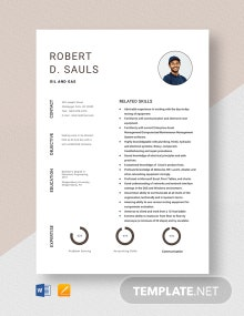 Oil and Gas Resume Template