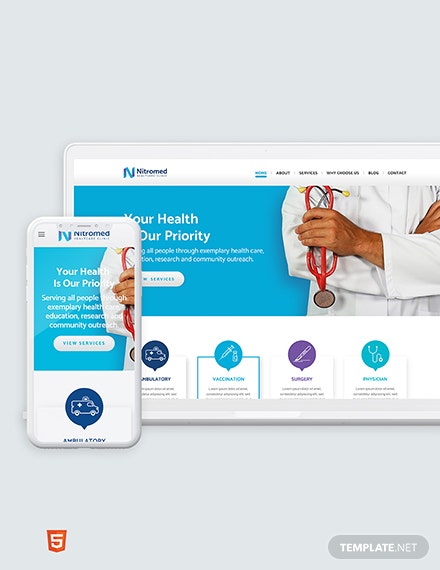 Clinic Bootstrap Landing Page Template