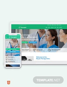 Therapist Bootstrap Landing Page Template