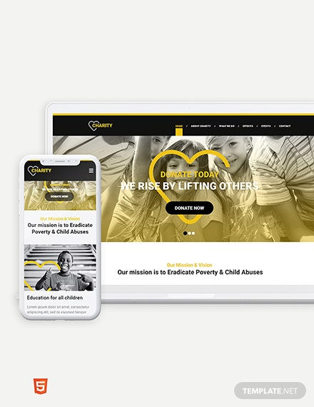 NGO Bootstrap Landing Page Template