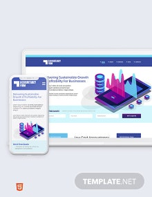 Accountancy Firm Bootstrap Landing Page Template