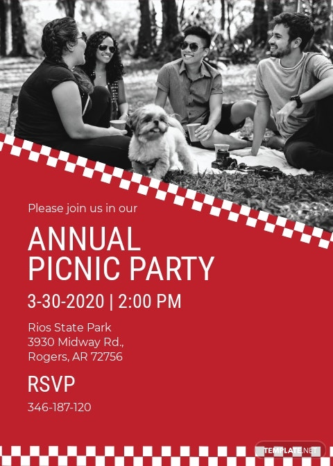 Corporate Picnic Invitation Template