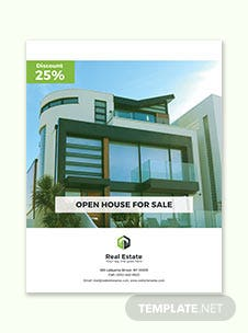 Country House Real Estate Flyer Template
