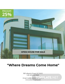 Free Country House Real Estate Flyer Template